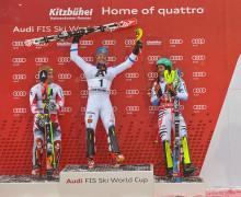 Mattias tar hem segern med Atomic Redster i Kitzbühel