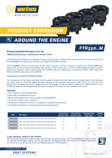 VETUS FTR330..M water strainers - Information Sheet