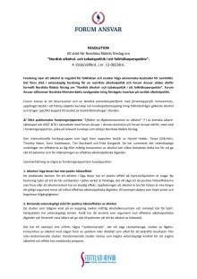 Forum Ansvars resolution