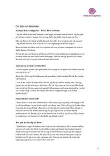 Mer fakta om EES - Bosse, 80 år, berättar
