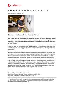 Relacom installerar elbilsladdare åt Fortum