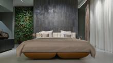 Säng med integrerat klimatkontrollsystem ger optimala sovförhållanden