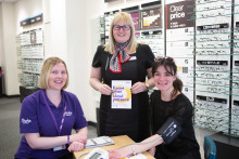 Dunfermline resident referred for urgent follow-up after free blood pressure event at Vision Express
