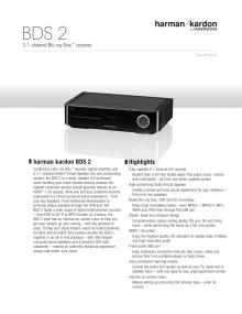 Specification sheet - harman kardon BDS 2 (English)
