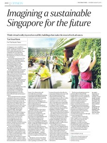 Imagining a sustainable Singapore for the future