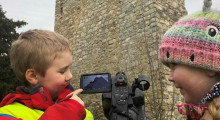 Glenlivet and Tomintoul primary pupils are screening their film project onto an ancient Scottish castle.