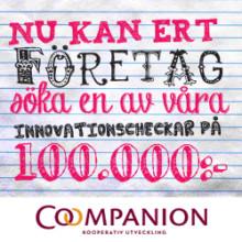 Tio nya innovationscheckar om 100 000 kronor utdelade!