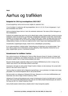 Notat Aarhus og trafikken