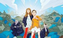 Femteklassares samarbete blir spännande och galen pjäs med Teater Västernorrland