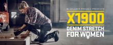 Damen Handwerkerhose aus Denim Stretch – Blåkläder erweitert seine X1900 Serie