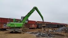 Schrottrecycler aus Texas vertrauen auf die grünen SENNEBOGEN Materialumschlagmaschinen