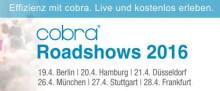 cobra CRM-Roadshows deutschlandweit im April