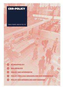 Arkitema Architects -  CSR-policy 2018