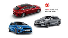 KIA scorer design award hat-trick for anden gang i år med tre Red Dot designpriser