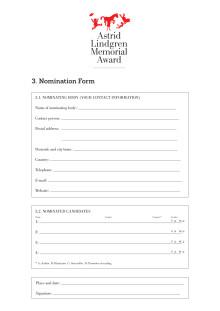 Nomination form 2019