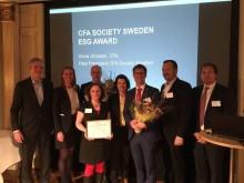 Region Västmanland får pris för arbetet med hållbara ekonomiska placeringar