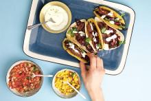 Recept - Fish tacos med lime-crème fraiche