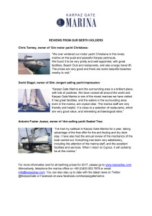 Reviews from berth holders at Karpaz Gate Marina
