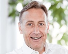 Astra Zenecas VD Jan-Olof Jacke på Arena Göteborg