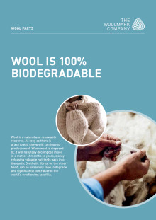 Wool is 100%  biodegradable
