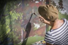Välkomna till invigning av väggmålning i Farsta Strand