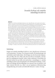 Svenska kyrkan och samiska mänskliga kvarlevor (ur Vitboken)