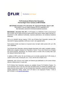 FLIR: METSTRADE Press Kit - Press Release #2