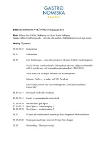 Program Forum Nyköping 2016