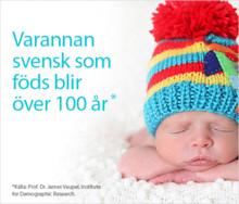 Varannan person som föds i Sverige blir över 100 år