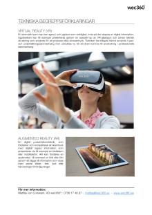 Begreppsförklaring VR och AR