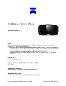 Zeiss VR One Plus Specifications
