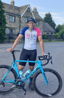 Chesterfield dad gets back on his bike for cycle race in memory of son