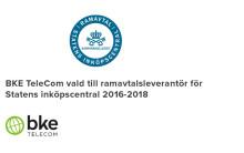 BKE TeleCom tilldelas åter posten som ramavtalsleverantör genom Kammarkollegiet.