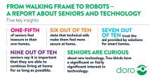 Långsam digitalisering för seniorer trots stort intresse och förtroende visar ny rapport från Doro