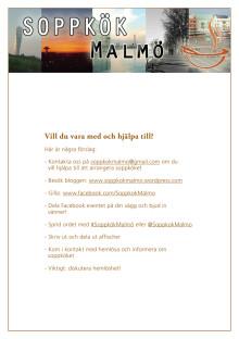 Folder från Soppkök Malmö
