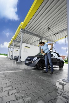 Kärcher åpner ny konseptbutikk med bilvaskeanlegg på Heimdal
