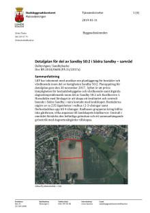 Tjänsteskrivelse för Sandby backe