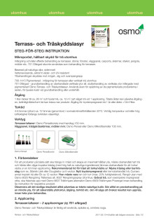 Steg för steg instruktion Osmo Terrass- och Träskyddslasyr
