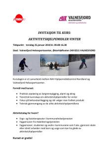 Invitasjon fagkurs - Aktivitetshjelpemidler vinter