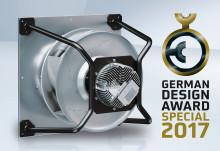Ännu en utmärkelse till ebm-papst på German Design Award