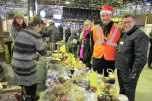 Bedford station hosts colossal community cake sale for homelessness charity