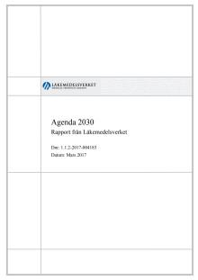 Agenda 2030 Rapport från Läkemedelsverket