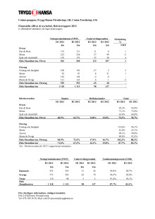Finansiella siffror och nyckeltal Codan-gruppen Halvårsrapport 2013