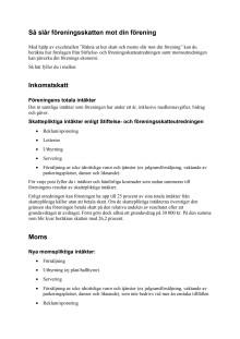Skatte- och momspåslag manual till uträkningsmall