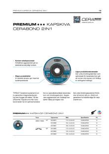 Produktinfo TYROLIT PREMIUM kapskiva Cerabond System 2in1