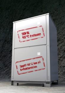 Spennende varmepumpenyhet: 60 kW inverter styrt væske-vann varmepumpe