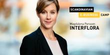 Magdalena Persson, VD för Interflora, talar på SEBC 2016