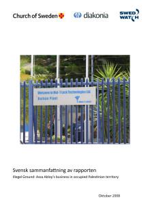 """""""Illegal Ground"""" - Svensk sammanfattning av rapporten"""