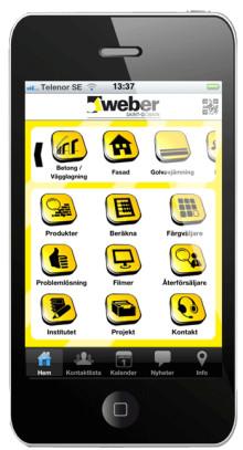 weber.app – för dig som använder Webers produkter och som inte alltid har tillgång till en dator.