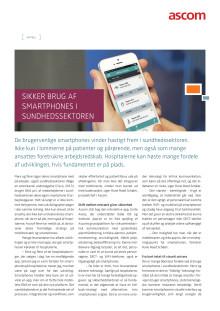 Artikel - Sikker brug af smartphones i sundhedssektoren